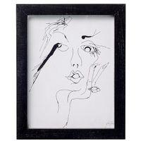 Plakat / grafika szkic kobiety, mały - Bloomingville, 50500025