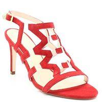 38925 czerwone - sandały szpilka, Solo femme