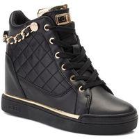 Sneakersy GUESS - Fraser FL7FRA ELE12 BLACK/GOLD, kolor czarny