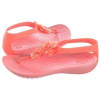 Sandały serena embellish flip w bright coral/melon 205600-6pt (cr172-a) marki Crocs