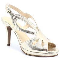 t2528a złote - sandały, podsówka, Brenda zaro