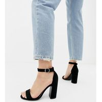 New Look barely there heeled sandal in black - Black
