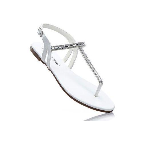 Sandały japonki bonprix srebrny metaliczny