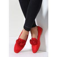 Czerwone Mokasyny Adorable Gumshoeing, kolor czerwony