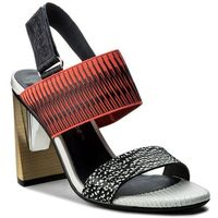 Sandały UNITED NUDE - Zink Slingback Hi 10300416108 Black And White Mix/Neon Red/Navy, w 4 rozmiarach