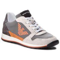 Sneakersy - xyx003 xoc01 a179 wht/lgrey/aprc/dgrey, Emporio armani