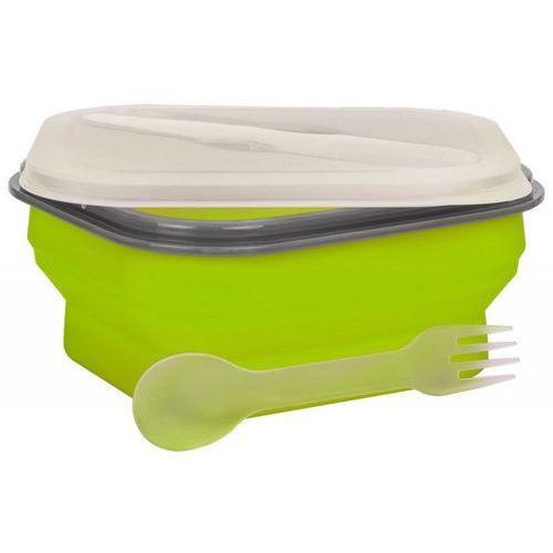 Mpm Lunch box smile sls-2 silikonowy 600 ml zielony (5901308009427)