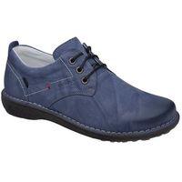 Półbuty KACPER 2-6506-485+217 Niebieskie sznurowane - Niebieski ||Błękitny, kolor niebieski