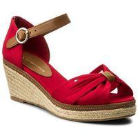 Espadryle TOMMY HILFIGER - Iconic Elba Sandal FW0FW00906 Tango Red 611, kolor czerwony