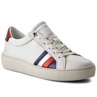 Sneakersy TOMMY HILFIGER - Corporate Iconic Sneaker FW0FW03458 White 100