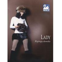 Rajstopy lady w88000 rozmiar: m(164/170), kolor: fioletowy/lilac, wola marki Wola
