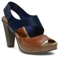 Sandały NESSI - 42103 Granat/Koniak 11, kolor niebieski