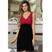 Koszulka nocna koszula nocna model larisa red/black - marki Babella