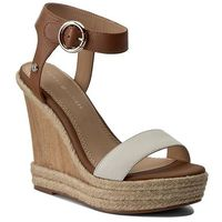 Espadryle - beatrice 6a fw0fw00653 whisper white/cognac 901, Tommy hilfiger, 39-41