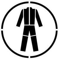 Szablon do malowania Znak Nakaz stosowania odzieży ochronnej GO010 - 15x15 cm