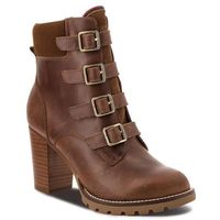 Tommy hilfiger Botki - basic hiking heeled fw0fw03570 winter cognac 906
