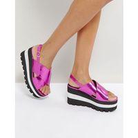 layered flatform sandal - pink, Qupid