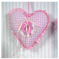 Zawieszka serce, poduszka z Matką Boską, styl włoski, prezent na chrzciny.