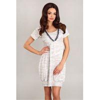 Koszula nocna model 1742 white/grey, Lupoline