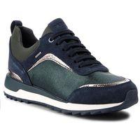 Sneakersy GEOX - D Aneko B Abx A D843FA 0LY22 C3H4E Dk Forest/Blue, kolor zielony
