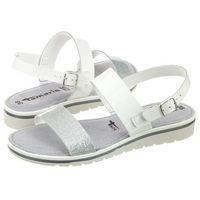 Sandały Tamaris Białe/Srebrne 1-28122-28 191 White/Silver (TM94-a), kolor biały