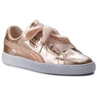 Sneakersy - basket heart lunar lux jr 365993 02 cream tan, Puma