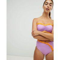 Vero Moda Asymetric Ruffle High Waisted Bikini Bottom - Multi