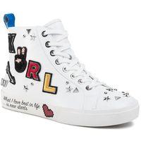 Sneakersy - kl60154 white lthr marki Karl lagerfeld