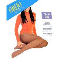 Rajstopy Oblio Folk 70 den 3-L, grafitowy/londra, Oblio