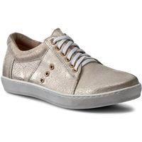 Sneakersy OLEKSY - 415/752/737 Beżowy Srebrny, w 4 rozmiarach