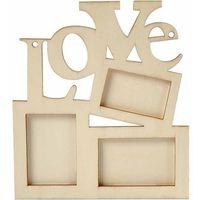 Creativ Drewniana ramka na zdjęcia - love