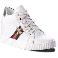 Sneakersy - 0959 biały lico/zielony, R.polański, 36-41