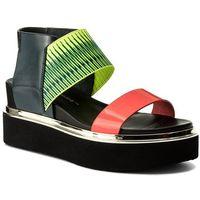 Sandały UNITED NUDE - Rico Sandal 1030455003108 Neon Red/Neon lime/Disco