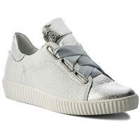 Sneakersy - 0918 biały kryształ srebrny, R.polański