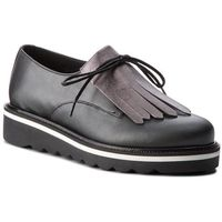 Oxfordy - pearlized leather lace up shoe fw0fw02937 black 990 marki Tommy hilfiger