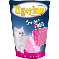 Tigerino Crystals Fun kolorowy żwirek dla kota - Rożowy, 3 x 5 l (ok. 6,3 kg) (4260358511887)