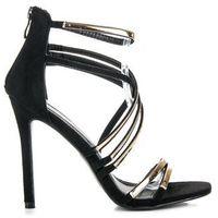 Czarne sandały szpilki marki Buty vinceza