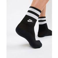 black mid socks with logo - black, Nike