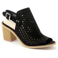 Sandały Sergio Leone 50891 czarny, kolor czarny