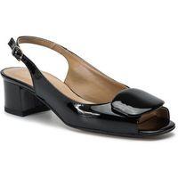 Sandały SAGAN - 3609 Czarny Lakier