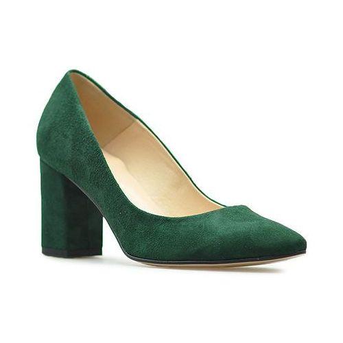 Czółenka Damiss DS-43/2/A Zielone zamsz, kolor zielony