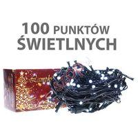 Lampki choinkowe wewnętrzne LED 100 sztuk z dodatkowym gniazdem LW-LED-100G zimno białe