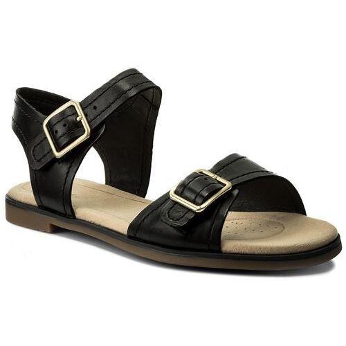 Sandały CLARKS - Bay Primrose 261319344 Black Leather, w 7 rozmiarach