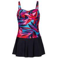 Sukienka kąpielowa czarno-różowy, Bonprix, M-XXXXL