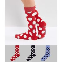 pouvry 3 pack dotted socks - black marki Essentiel antwerp