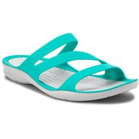 Crocs Klapki - swiftwater sandal w 203998 tropical teal/light grey