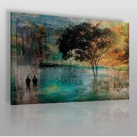 Vaku-dsgn Wieczne drzewo miłości - nowoczesny obraz na płótnie