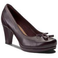 Clarks Półbuty - chorus bombay 261290924 aubergine leather