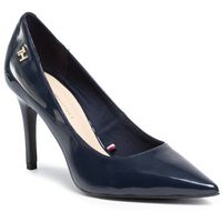 Szpilki TOMMY HILFIGER - Feminine Patent High Heel Pump FW0FW04815 Desert Sky DW5, kolor niebieski