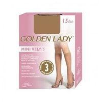 Podkolanówki Golden Lady Mini Vely 15 den A'3 uniwersalny, czarny/nero, Golden Lady